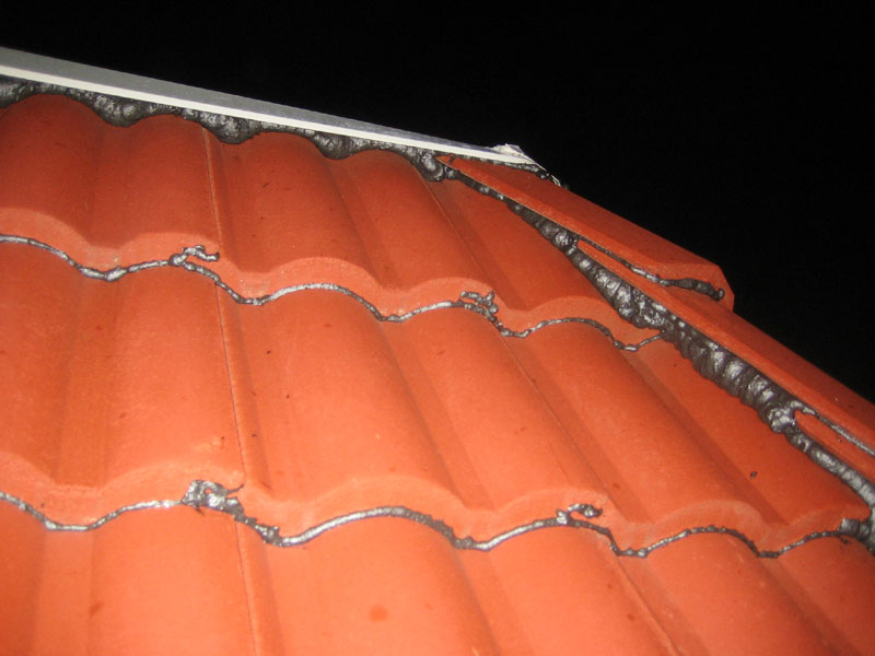 Here S A Detail Of Sealing Roof Tiles Every Last Gap Must Be Sealed Miss Spot And The Job Is Failed